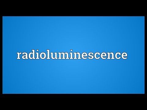 Header of radioluminescence