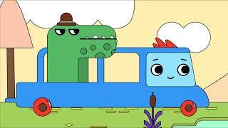 Мультфильм про машинки -  Грузовичок Пик - Раскраска - Ленивый крокодил