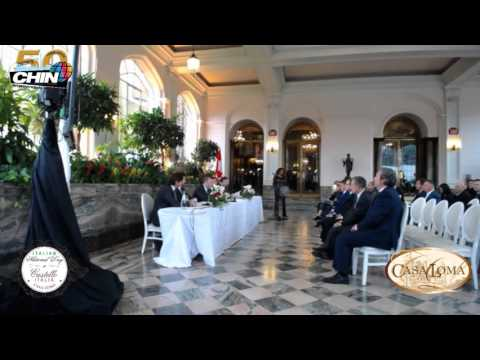 Castello Italian Day 2016 press conference at Casa Loma