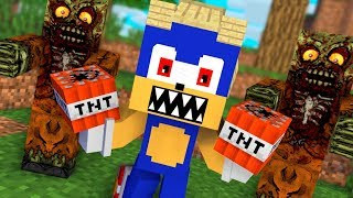 Monster School : SONIC TROUBLE CHALLENGE - FUNNY Minecraft Animation