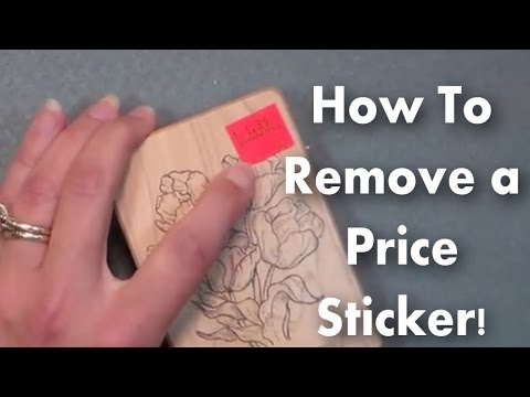 how to remove a sticker quick easy youtube. Black Bedroom Furniture Sets. Home Design Ideas
