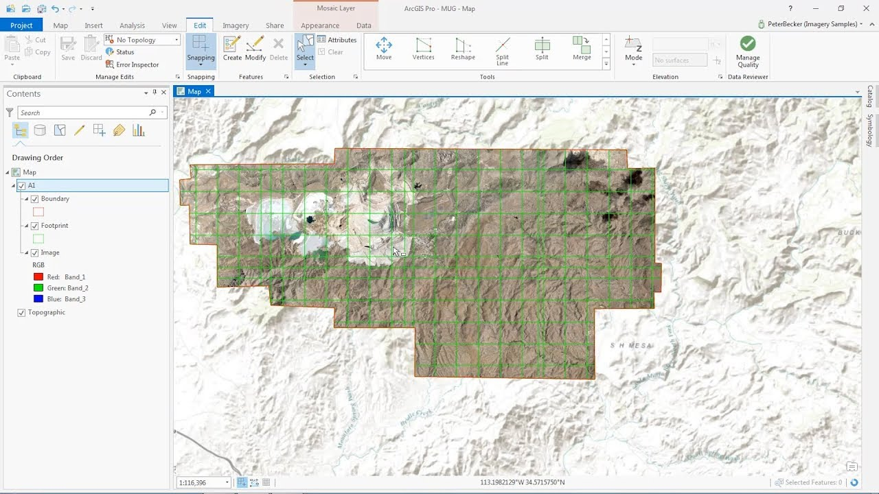 Esri Mining Webinar Series - Creating a Source Mosaic Dataset from a  Collection of Tiled MrSID Files