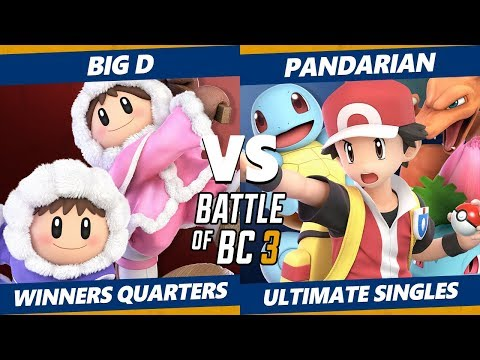 Smash Ultimate Tournament - Big D (Ice Climbers) Vs. Pandarian (Pokemon Trainer) BoBC3 SSBU WQ thumbnail