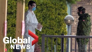Coronavirus outbreak: Military teams raise concerns over conditions at Ontario long-term care homes