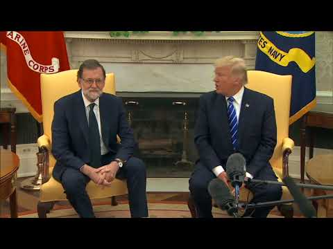 Trump welcomes Spanish president to the White House