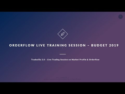 Trading Strategy using Orderflow – Live Training Session – Budget 2019 Special