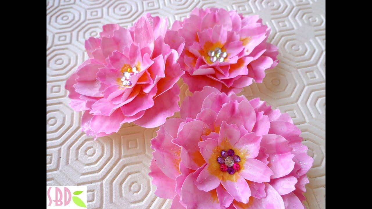 Fiori di loto di carta paper lotus youtube for Fiori di carta di giornale