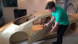 สุดทึ่ง!! ทำเองโครงรถ Lamborghini ลังกระดาษ