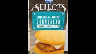 Kroger Selects Chicken & Cheese Cornbread Sandwiches Review