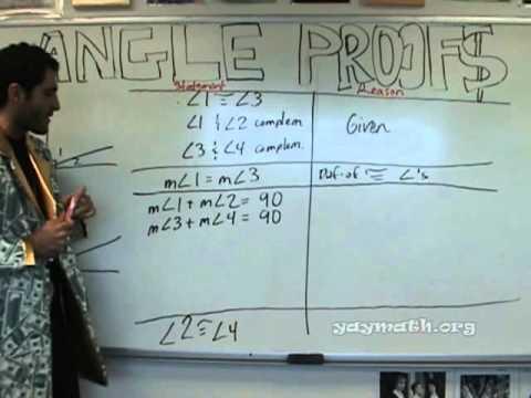 Geometry - Angle Proofs