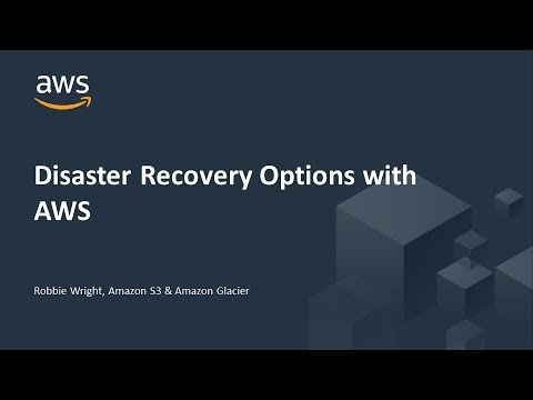 Disaster Recovery Options with AWS - AWS Online Tech Talks