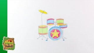 Kijk Tekenen - Drumstel filmpje