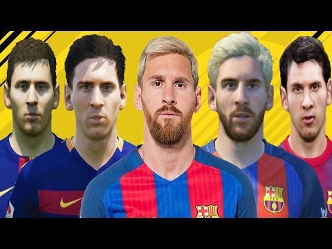 Lionel MESSI from FIFA 06 to FIFA 17 (vs Real Face Comparison)