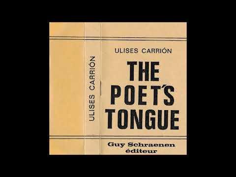 Ulises Carrión - The Poet's Tongue - Cassette (Guy Schraenen Éditeur 1977)