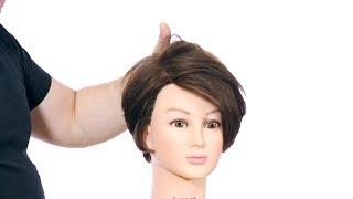 Short Layered Bob Haircut Tutorial - TheSalonGuy