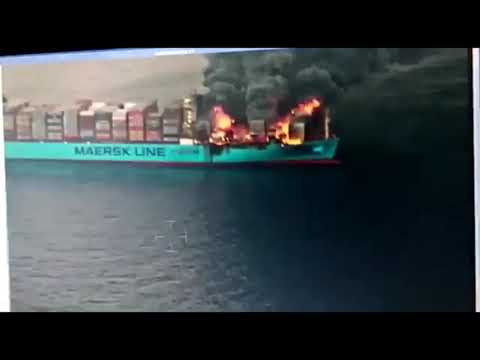 fire onboard the ultra-large containership Maersk Honam 7 March.