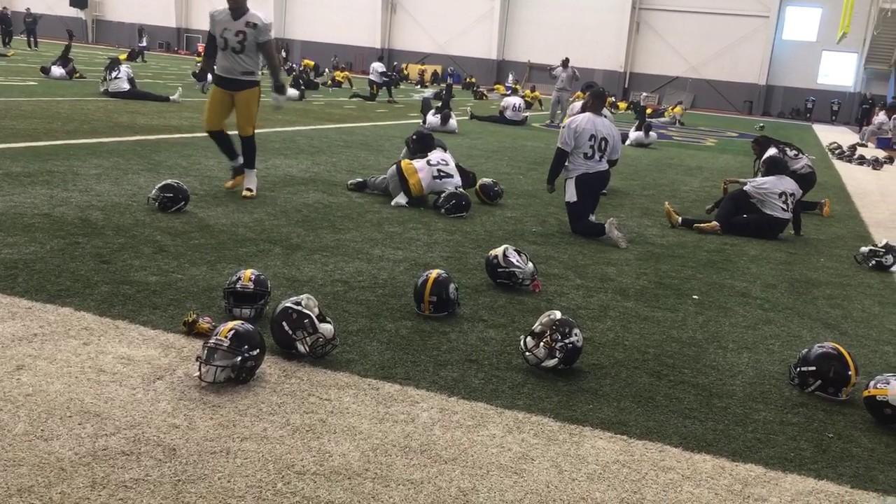 7739e5ac833 Pittsburgh Steelers stretch for Ravens week - YouTube