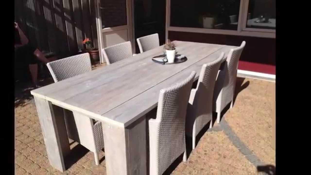 Zelf een steigerhouten tafel maken youtube Steigerhouten tafel met steigerbuizen zelf maken