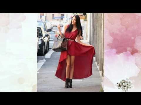 С чем носить красное платье / What to wear a red dress