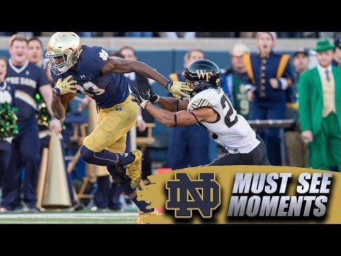 Notre Dame's Josh Adams' Record Setting 98-Yard TD Run