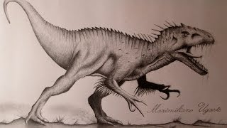 Amazing drawing of Indominus Rex Jurassic World Concept Art