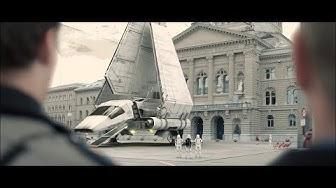 Kantonspolizei Bern Star Wars Weihnachtsspot (Kantonspolizei büsst Stormtrooper auf dem Bundesplatz)