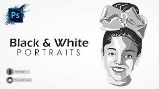 Learn face portrait illustration using pen tool   Portraits & Caricatures   Fiaz Ahmed
