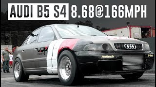 AUDI B5 S4 GOES 8.68 @ 166MPH // WATERFEST 24