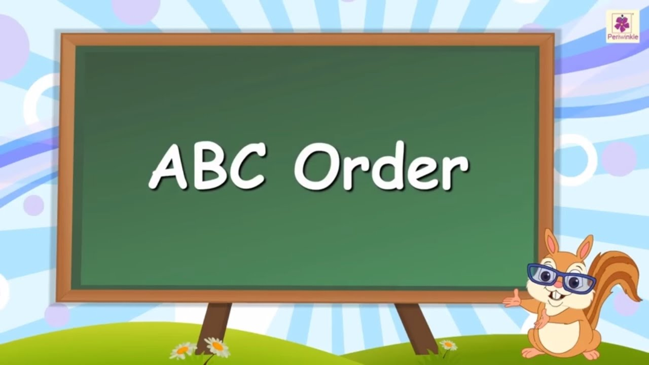 Learn Abc Order Or Alphabetical Order For Kids  English Grammar  Grade 2  Periwinkle  Youtube