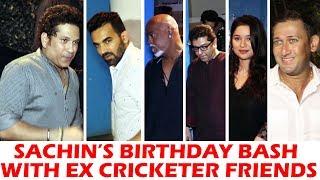 Sachin Tendulkar Celebrates His Birthday With Old Indian Cricket Team Members