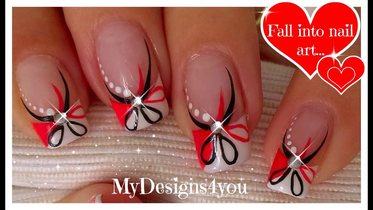 Red and black floral nails abstract nail art diseo uas red and black floral nails abstract nail art diseo uas francs flor youtube prinsesfo Gallery