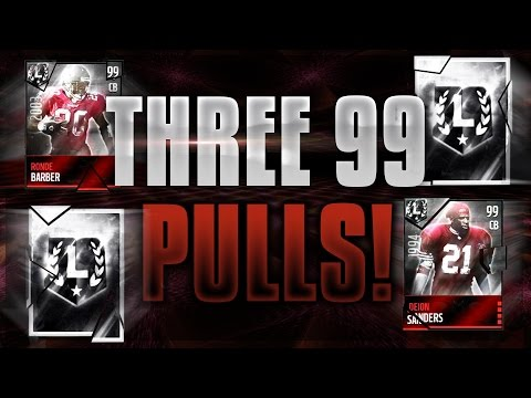THREE 99 OVERALL PULLS! BEST PACKS OF MY LIFE! ULTIMATE LEGEND PACK OPENING! Madden Mobile 16