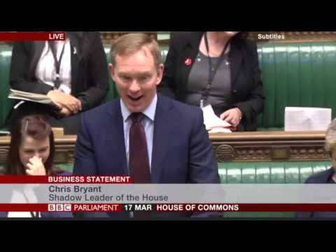 Chris Bryant delighted that Gideon (George) Osborne has realised the dangers of Coke