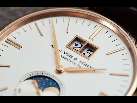 Our first encounter with a stone cold modern classic, the A. Lange & Söhne Saxonia Moon Phase