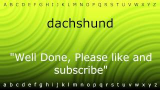 How To Say 'dachshund' With Zira.mp4