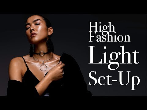 High Fashion Editorial Studio Light Setup