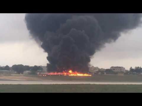 FRONTEX AIRPLANE CRASHED IN MALTA