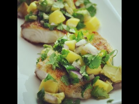Clean Eats - Tilapia With Spicy Mango Salsa