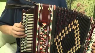 Учимся играть на гармони хромке - Барыня (часть 1)