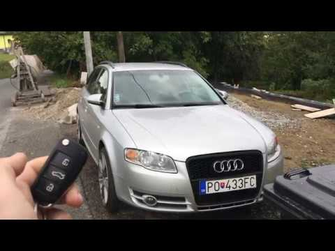 Audi A4 B7 folding mirrors with remote key