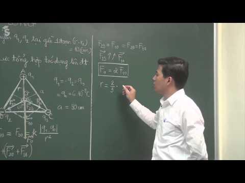 Định luật Cu Lông - Vật lý 11 - Thầy Phạm Quốc Toản