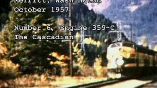 GREAT NORTHERN RAILWAY--Historical video ---part 1 of 4