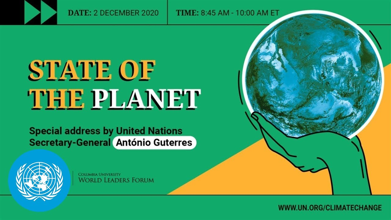 UN Chief's State of the Planet speech at Columbia University
