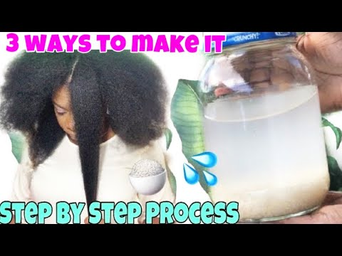 Download HOW TO MAKE RICE WATER SUPER HAIR GROWTH TREATMENT   USE RICE WATER RINSE FOR NATURAL HAIR (3 Ways)