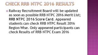 rrb ntpc result 2016 declared download rrb ntps main exam admit card 2017