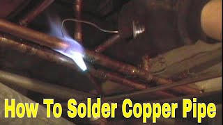 how to  solder copper Pipe and repipe home Part 9 of 14 In HD(click here http://www.plumberx.com/Copper%20Pipe%20tools%20and%20Supplys.html and get all the supplys and tools you will need to solder copper pipe ..., 2010-08-27T04:21:08.000Z)