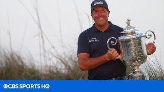 Phil Mickelson's FULL Final Hole and Reaction as he Wins the 2021 PGA Championship | CBS Sports HQ