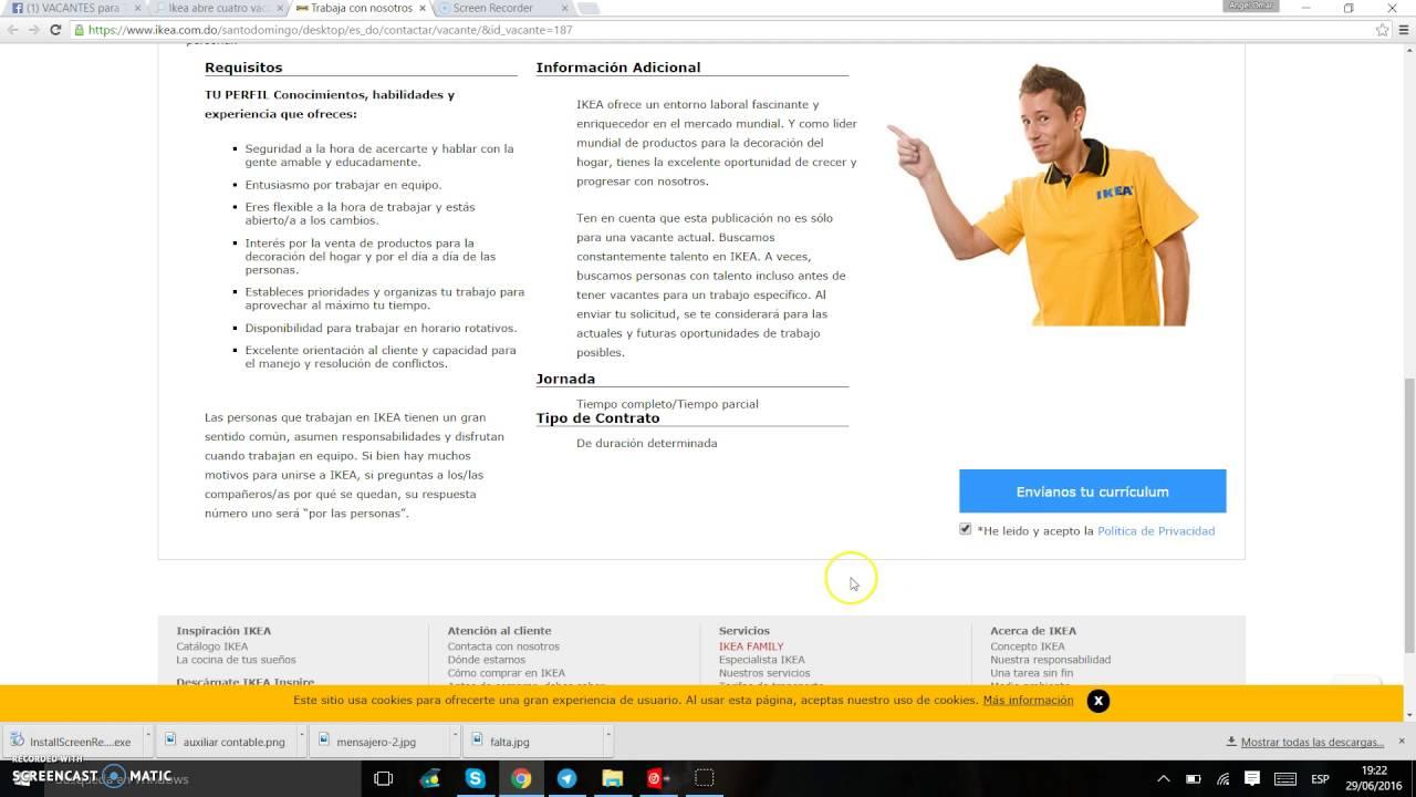 Como subir curriculum a la pagina oficial de Ikea - YouTube