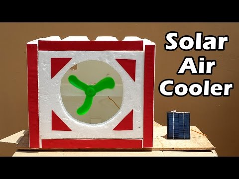 How to Make a Solar Powered Air Cooler at Home – Very Easy