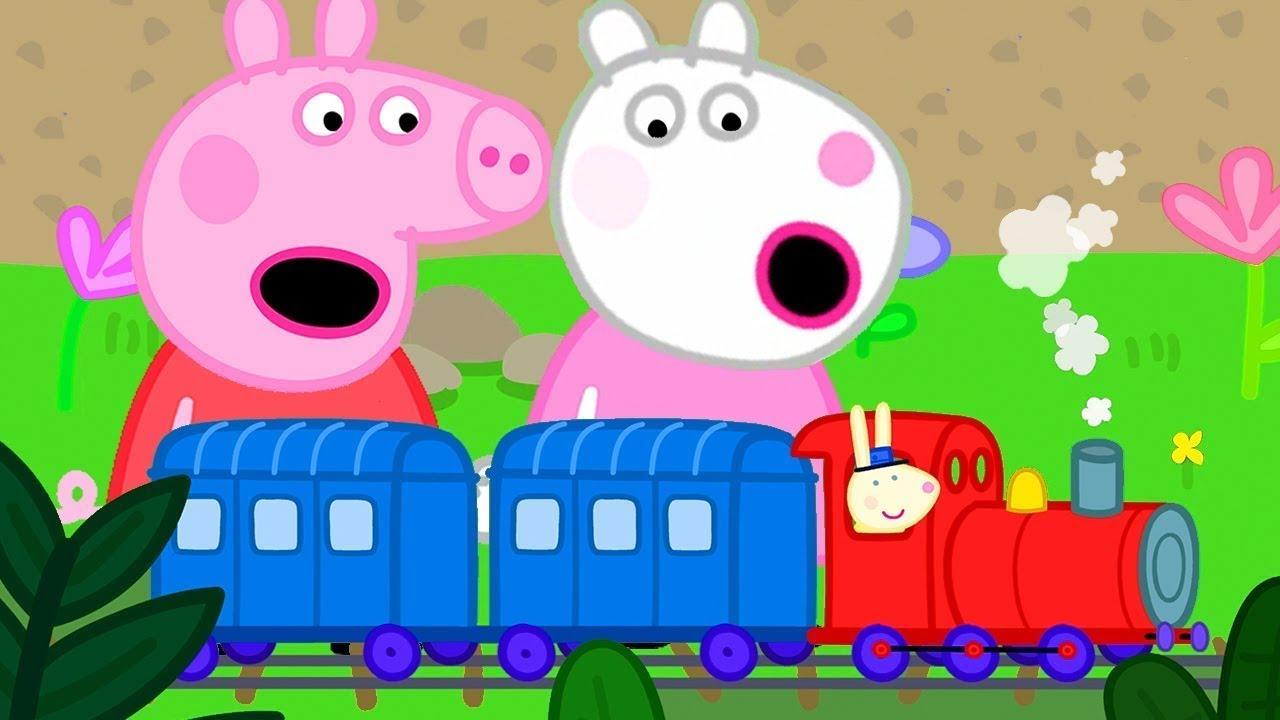 Peppa Pig en Español   Peppa pasea en tren   Pepa la cerdita